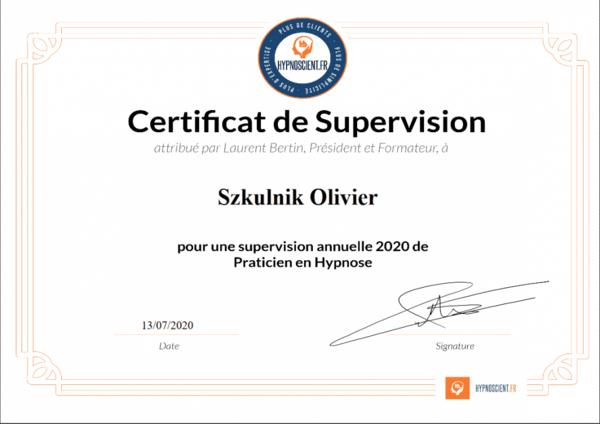Supervision hypnose Olivier Szkulnik